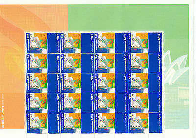 """Stamps Australia 2000 Sydney Athens Olympic Games pair """"P"""" stamp sheets of 20"""