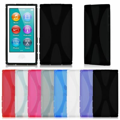 X Line Soft TPU Case Cover Skin For Apple ipod Nano 7 7G 7th Generation