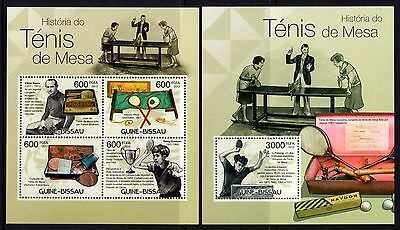 Guinea-Bissau 2012 Table Tennis  Sheetlet 4 + M/S MNH