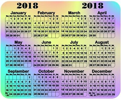 Calendar 2017 Mouse Pad - Free Personalizing & Your Choice of Colors!