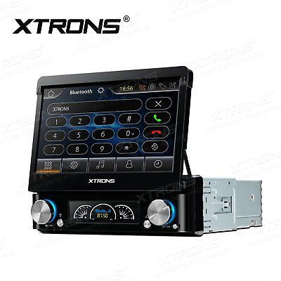 "XTRONS 7"" In Dash Single 1Din Car Stereo Radio DVD Player GPS iPod Touch Screen"