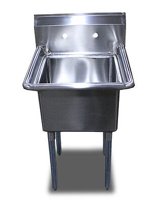 New Commercial Restaurant 24 x24 Stainless Steel One Compartment Sinks Table