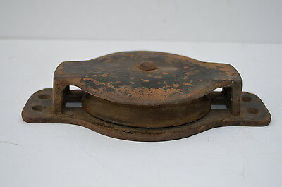 "Antique/vintage Wonderful Cast Iron  All Metal 5"" Pulley Great Condition"