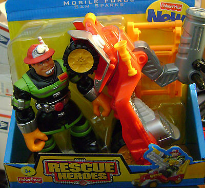 Rescue Heroes Mobile Force Sam Sparks *new*