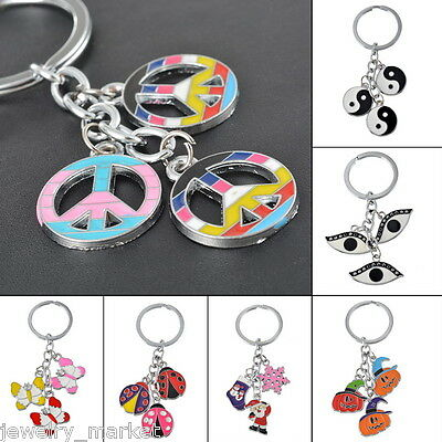 JM 1PC Fashion Charms Eyes Evil Key Chain Key Ring Keyfob Gift