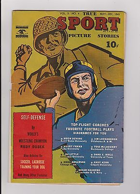 Vintage Nov-Dec 1945 Street & Smith True Sport Picture Stories Comic Book #4