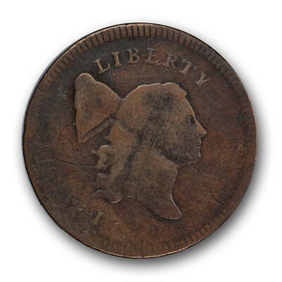 1795 Liberty Cap Half Cent Plain Edge No Pole Very Good VG US Type Coin R76