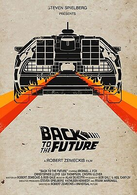 """Back to the Future 1 2 3 Movie Fabric poster 32"""" x 24"""" Decor 10"""