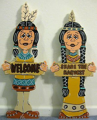 Indian Greeters Fall Thanksgiving Yard Art Decoration