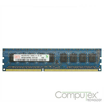 4GB Hynix PC3-10600E 2Rx8 DDR3-1333 ECC Unbuffered DIMM RAM For Server Memory
