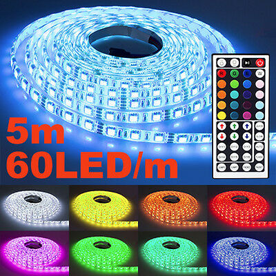 5m led leuchtband strip streifen smd 5050 lichtband band wasserfest stripe bunt eur 24 99. Black Bedroom Furniture Sets. Home Design Ideas