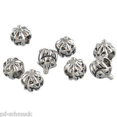 KUS 50 Charm Element Antiksilber European Tube Spacer Perlen Beads 12x6mm