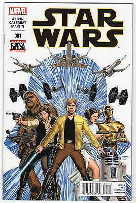 2015 STAR WARS - Comcis #1 - direct edition - 1st print MARVEL - Aaron Cassaday