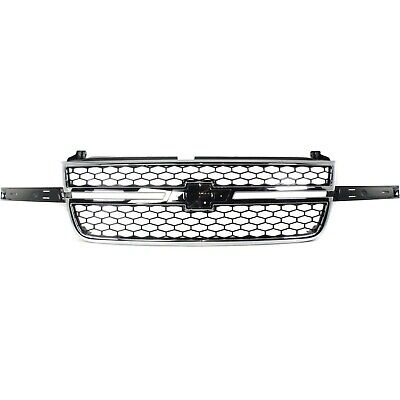 Grille 03-06 For Chevy Silverado 1500/2500 HD Chr/Black Insert w/o Side Mldgs