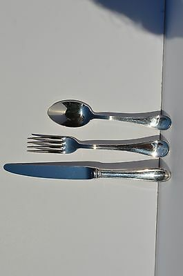 Vintage Lot Of 3 French Place Setting Knife Fork Soup Spoon By Christofle Hotel