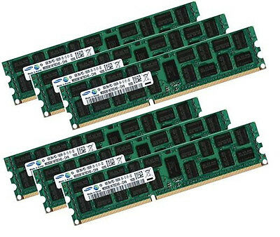 6x 8GB 48GB RAM RDIMM ECC REG DDR3 1333 MHz f  Dell PowerEdge T410 T610