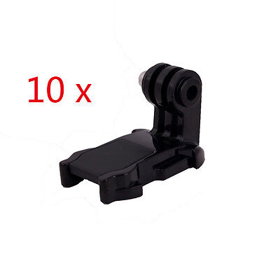 10pcs J-Hook Buckle Surface Mount Adapter for GoPro HD Hero 4 Session 1 2 3 3+ 4
