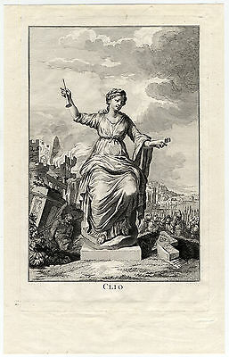 Antique Master Print-PROOF-CLIO-MUSE-HISTORY-RUIN-ARMY-Unknown-