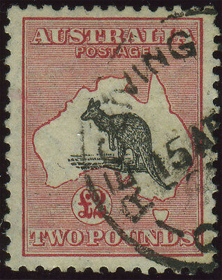 Australia 1929 £2 black and rose, SG 114, very fine used, a lovely example, Cat