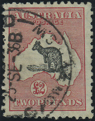 Australia, SG 138, £2 black and rose, very fine used example, Cat £550, very sca