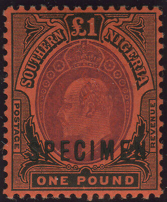 Southern Nigeria, SG 44, 1907 £1 purple & black on red, fine mint well-centred e