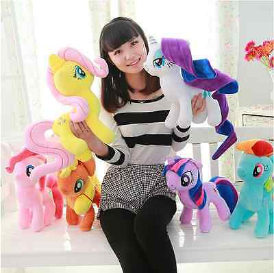 25CM My Little Pony Horse Figures Stuffed Plush Soft Teddy Doll Toys Kids Toy