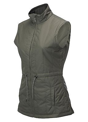 Callaway Quilted Wind Water Resist Gunmetal Grey Sleeveless Gilet M, L + XL New