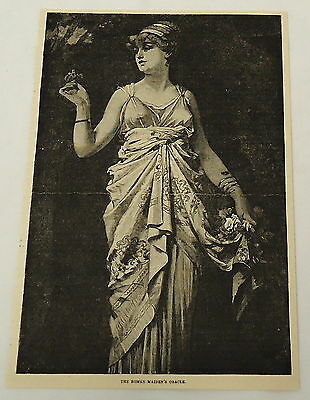 1887 magazine engraving ~ ROMAN MAIDEN'S ORACLE