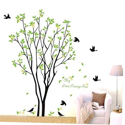 Tree Bird Quote Removable Wall Decal Mural Home Art DIY Decor Wall Sticker GO