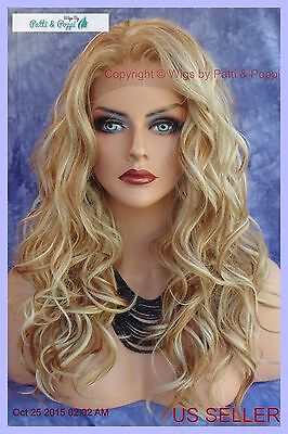 Lace Front Ear To Ear Lace Heat Friendly Wig F27.613 Blond Highlight Usa 213