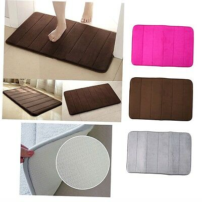 Memory Foam Bath Pad Bathroom Water Absorbent Non-slip Mats Shower Carpet GN