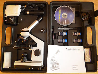 Biological Microscope with Digital Eyepiece & Free Extras, NEW CASED, Xmas SALE!