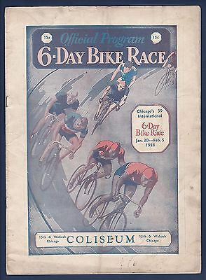 Chicago Coliseum 6-Day Bike Race program from 1938