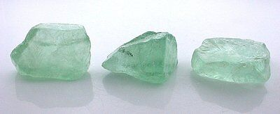 77.9 Grams 3 Piece Teal Fluorite Facet Cabochon Rough Gem Stone Gemstone EBS2202