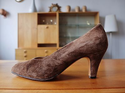 BALDAN DAMEN PUMPS Braun Slipper Velour Leder Schuhe Gr Gr Gr 35 UK 3 True 163fc2