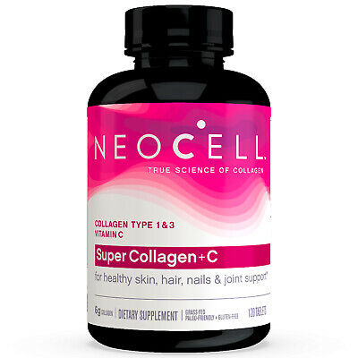 NeoCell Super Collagen+C Type I & III (1 & 3), 120 Tablets, FRESH, Made In USA