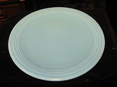 "Vintage HLC Fiesta Ware 12"" Turquoise Blue Chop Plate / Platter"