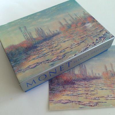 19 Claude Monet Les Glacons Christmas Holiday Cards