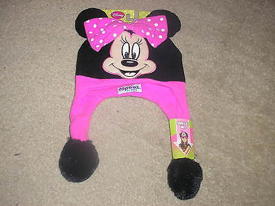 New As Seen On TV Disney Minnie Mouse Flipeez Winter Hat