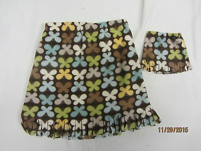 """Matching skirts for 18"""" doll American Girl & child size 7-8 BUTTERFLIES"""