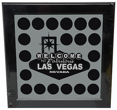 Welcome To Fabulous Las Vegas Chip Frame Holds 20 Chips Collectible or Casino