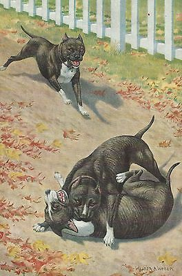 Staffordshire Bull Terrier - Vintage Color Dog Print - MATTED