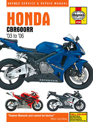 Haynes Manual 4590 - Honda CBR600RR (03 - 06) workshop, repair, service