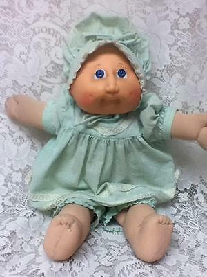 1978-1982, Coleco Ind.,Signed Xavier Robert's Cabbage Patch Doll in Green Dress