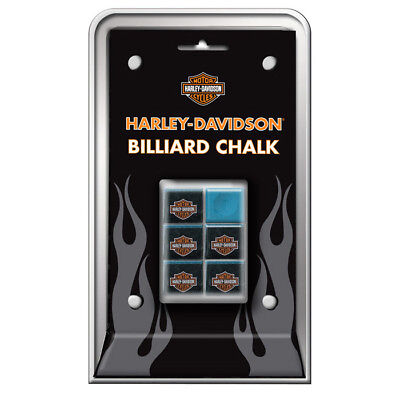 HARLEY DAVIDSON BILLIARD CHALK 6 Pieces Specially Formulated by Master Chalk