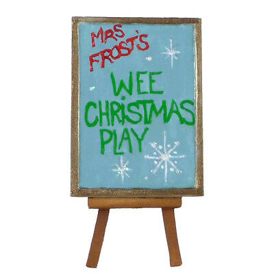 WEE CHRISTMAS PLAY EASEL by Wee Forest Folk, WFF# A-32, New Christmas 2015