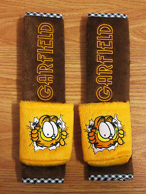 Garfield Car Accessory #D : 2 pcs Seat Belt Shoulder Pad Covers