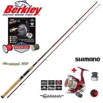 Berkley CherrywoodHD + Shimano CATANA FD 2500 + 200m Berkley Nanofil Red in 0.12