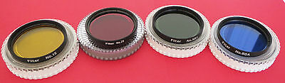 """Set of 4 Superior Quality Yellow Red Blue Green 2""""  Filter for Telescopes, BNC"""