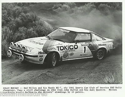 Mazda RX 7 Rally 1981 Rod Millen Photograph Mint Condition